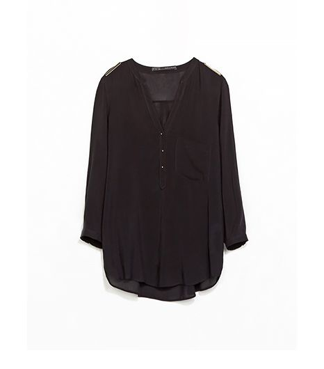 Zara Blouse With Shoulder Applique