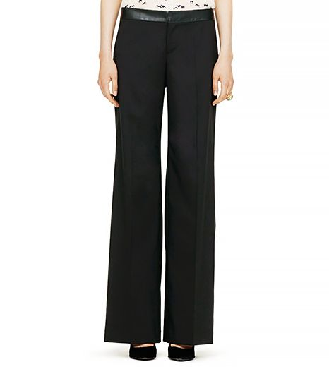 Club Monaco Micala Wool Wideleg Pant