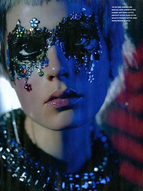 Caroline Brasch Nielsen Finds the Goth in Glitter