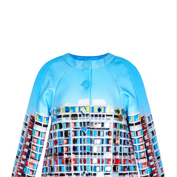Mary Katrantzou Erno Mini Embellished Blush Jacket
