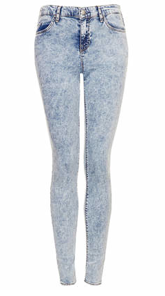 Topshop Moto Acid Leigh Jeans