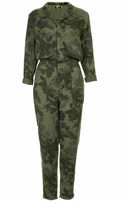 Topshop Tropical Floral Boilersuit