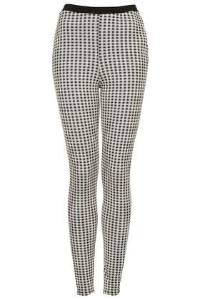 Topshop Gingham Jacquard Treggings