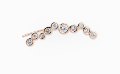 Jacquie Aiche 14K Assorted Diamond Bezel Ear Cuff