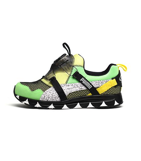 PUMA x Solange Girls of Blaze Disc Collection Tire Sneakers in Summer Green/Line