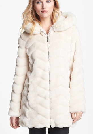 Gallery Hooded Faux Fur Topper
