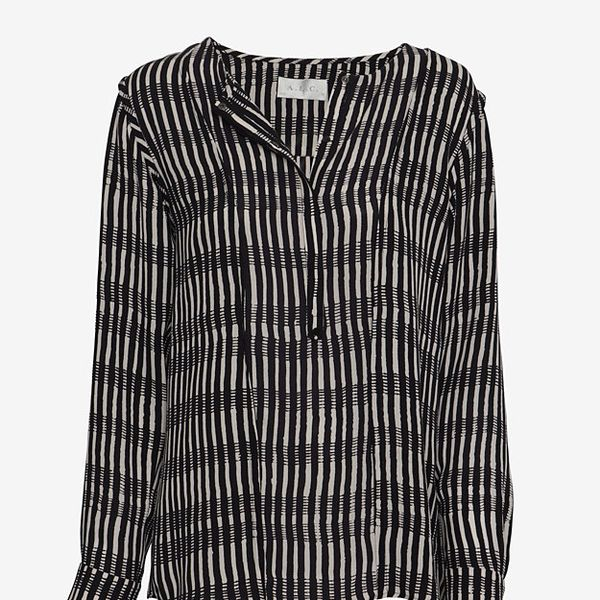A.L.C. High/Low Striped Blouse