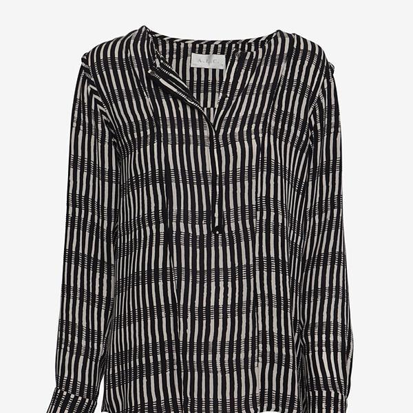 A.L.C. High/Low Striped Blouse