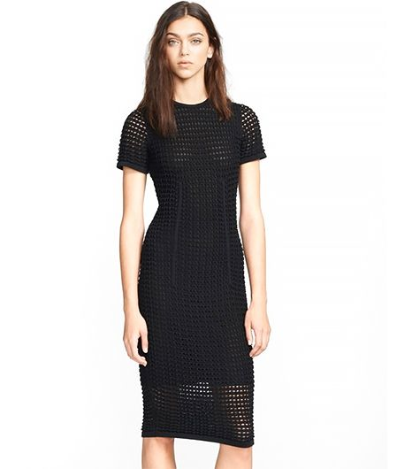 Alexander Wang Alexander Wang Fitted Crochet T-shirt dress