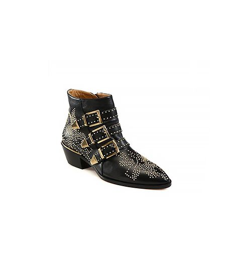 Chloe Chloe Suzanna Studded Leather Ankle Boots