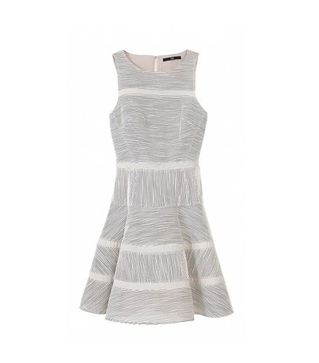 Tibi Raffia Organza Dress