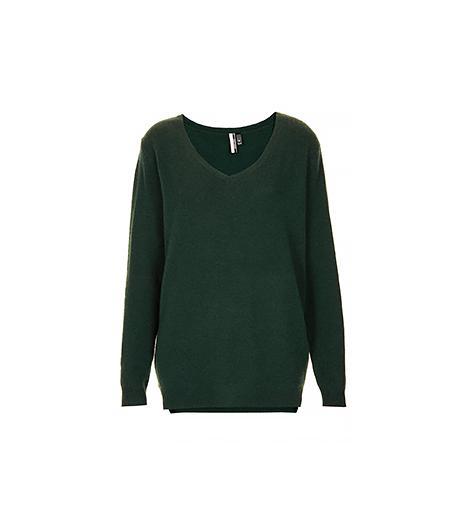Topshop Knitted V Neck Cashmere Jumper