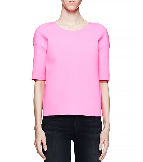 J Brand Auden Scuba-Fabric Top