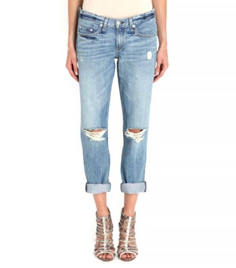 Rag & Bone The Boyfriend Distressed Jeans