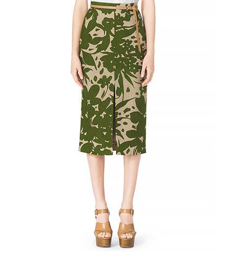Michael Kors Floral-Print Pencil Skirt