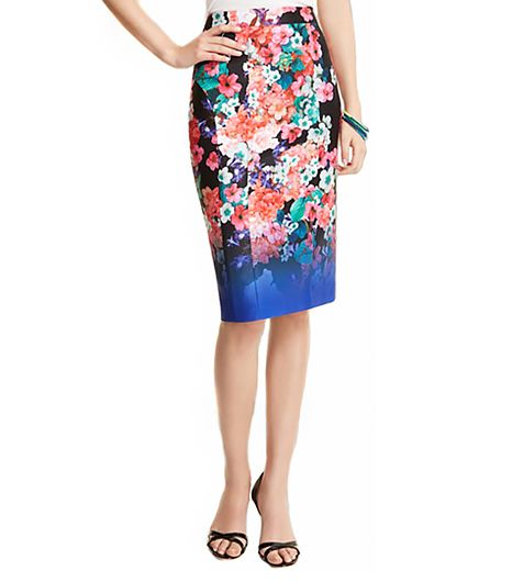 Nanette Lepore Wipeout Floral Skirt