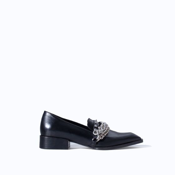 Zara Leather Moccasin with Chains