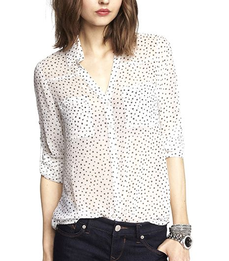 Express Star Cluster Convertible Sleeve Portofino Shirt