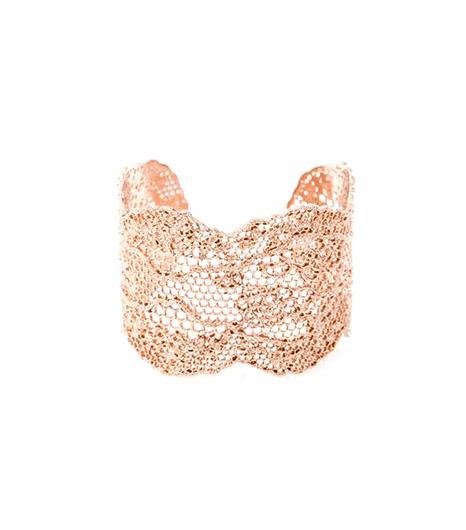 Aurélie Bidermann Rose Gold-Plated Lace Cuff