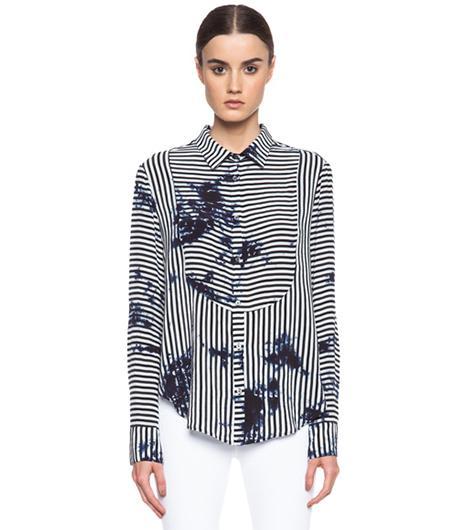 Raquel Allegra Tuxedo Silk Shirt