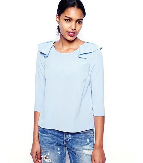River Island Frill Shell Top