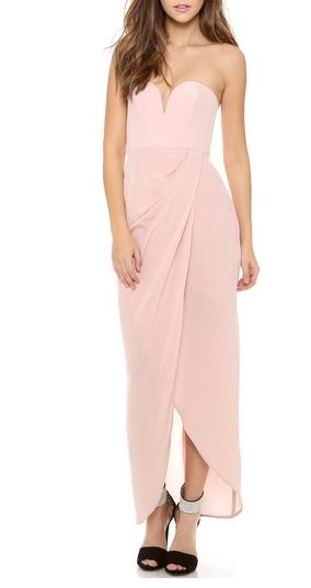 Zimmernann Strapless Drape Maxi Dress