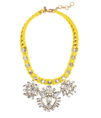 J. Crew Vivid Lemon Crystal Necklace
