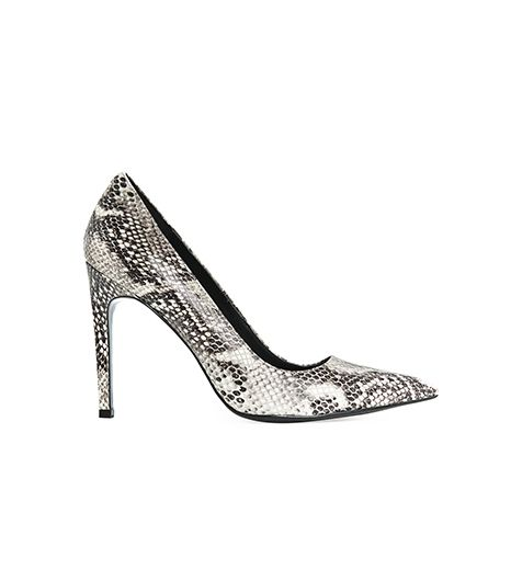Mango Snakeskin Leather Stiletto Shoes