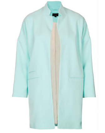 Topshop Notch Neck Throw On Coat