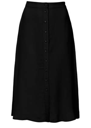 Topshop Button Through Midi Skirt