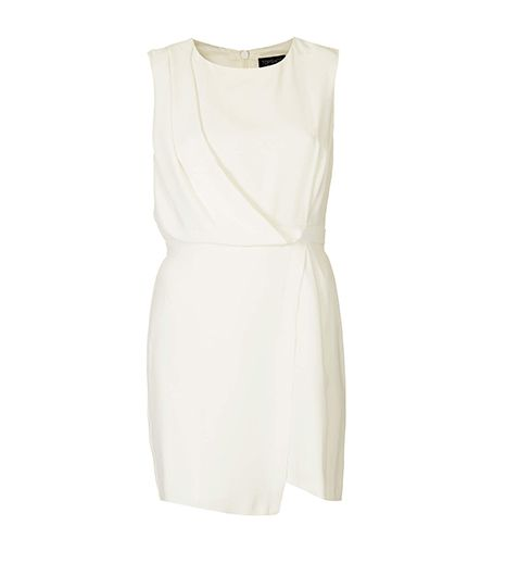 The draped wrap detail is flattering on every form.