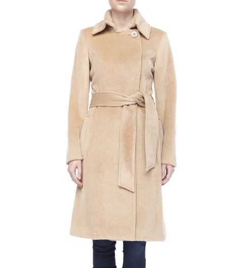 Sofia Cashmere Basic Wrap Belted Coat
