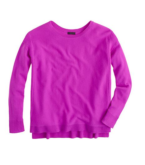 J.Crew Collection Cashmere Textured-Frame Sweater