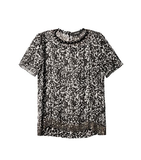Leopard plus embellishment is a dynamite combination.