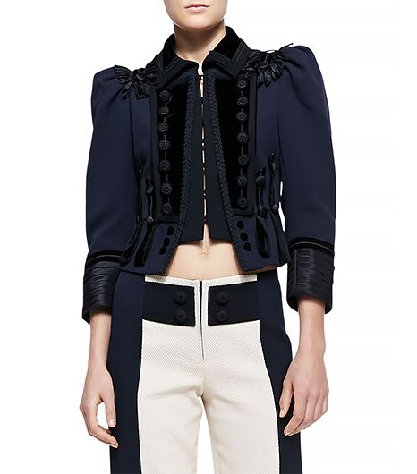 Marc Jacobs Embellished Fitted Military Jacket