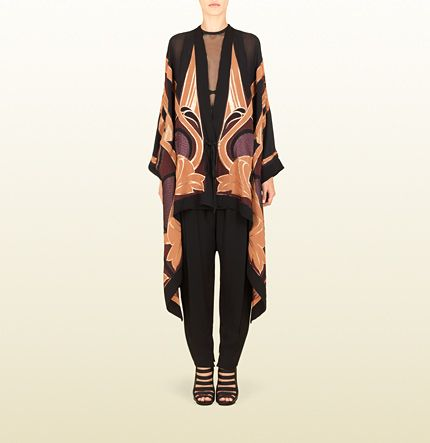 Gucci Stained Glass Lurex Jacquard Kaftan Jacket