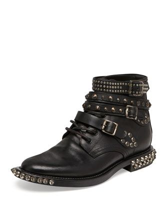Saint Laurent Rangers Studded Ankle Boots