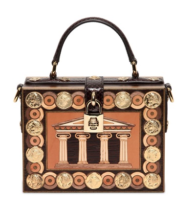 Dolce & Gabbana Inlaid Wood Top Handle Bag