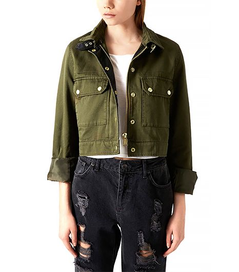 Topshop Cropped Military Jacket