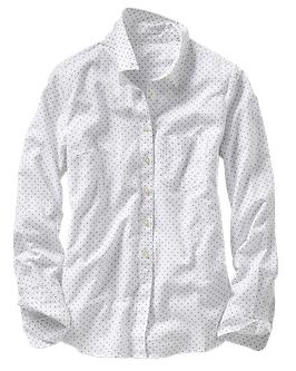 Gap New Tailored Dot Shirt