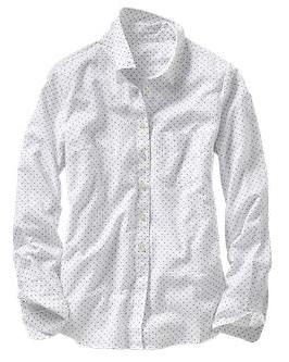 Gap New Tailored Dot Shirt