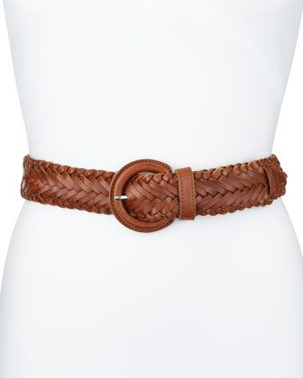 Lafayette 148 New York Braided Leather Belt