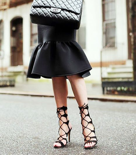Lace-up Stilettos