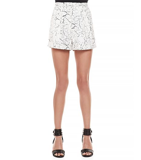 Cameo Terrible Love Cracked-Print Shorts