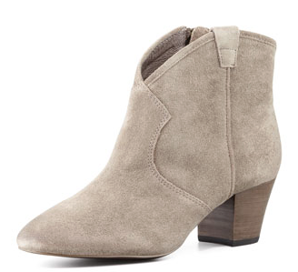 Ash Spiral Suede Western Booties
