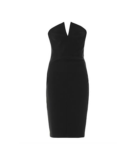 Robert Rodriguez Tech Suiting Strapless Dress