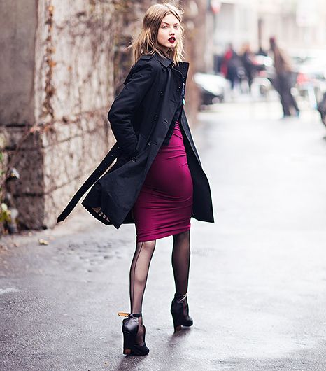 Seamed tights add va va voom to any ensemble. 