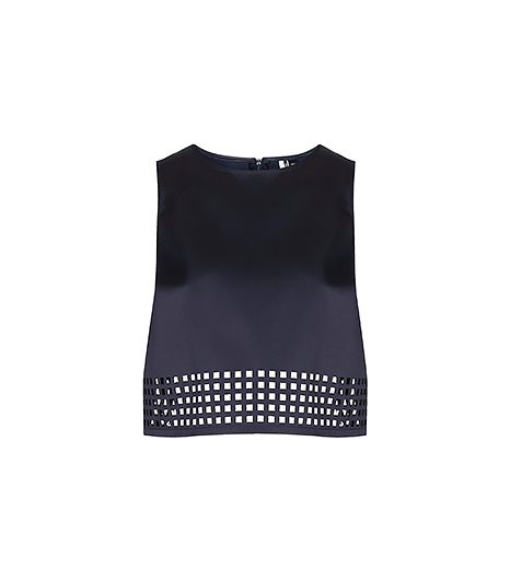 Topshop Luxe Lazer Cut Shell Top