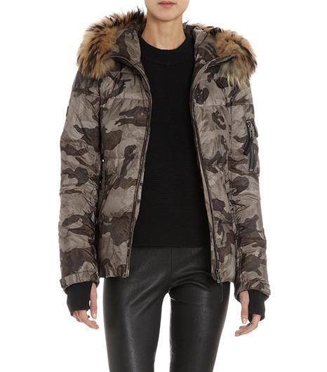 Sam Sam Camo Puffer Coat