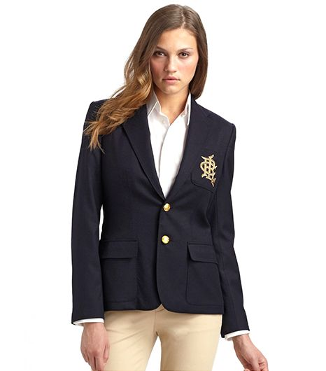 Ralph Lauren Ralph Lauren Blue Label Custom Wool Crested Blazer